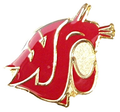 Logo Pin - aminco NCAA Washington State Cougars Logo Pin