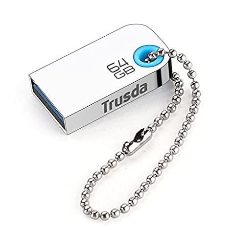 Trusda U85 Best USB Storage USB 3.0 Flash Drives Super Mini High Speed Metal Usb Stick Pen Drive (64GB)