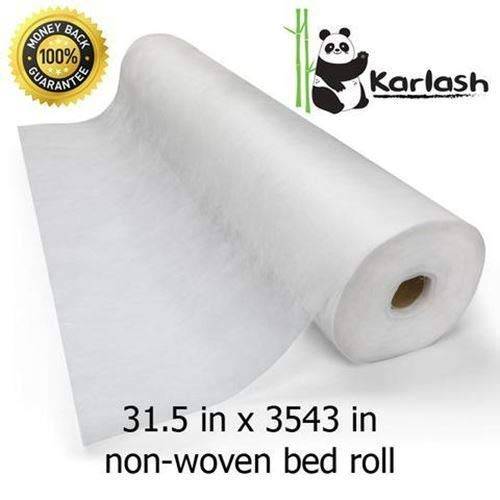Price comparison product image Karlash Disposable Non Woven Bed Sheet Roll Massage table paper roll 30gms Thick