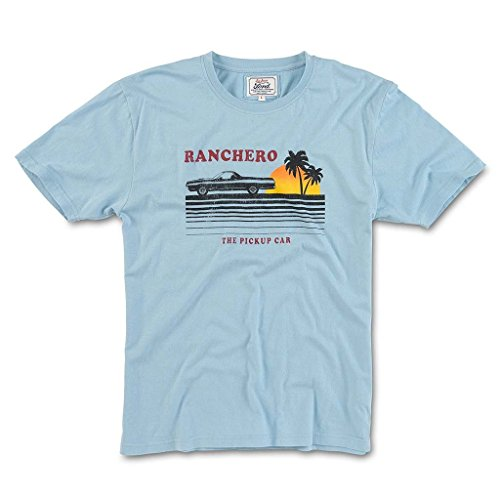 Red Jacket Brass Tacks 2 Short Sleeve Cotton Crew Neck T-Shirt, Ford, Light Blue, XL