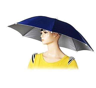b965ac88 UChic 2PCS Hands Free Portable 55cm Useful Umbrella Hat Sun Shade Camping  Fishing Hiking Festivals Outdoor Brolly Color Randomly: Amazon.co.uk:  Clothing