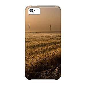 Sanp On Cases Covers Protector For Iphone 5c (windmills Field)