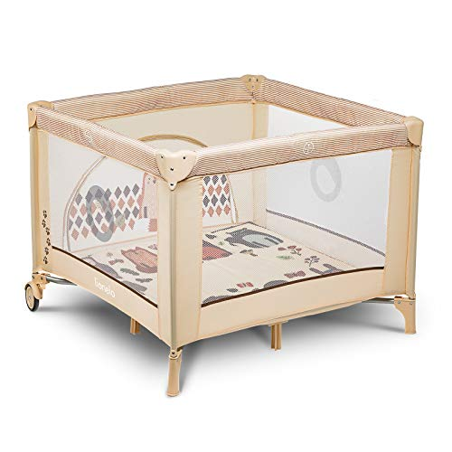 Lionelo-Sofie-Parque-infantil-De-viaje-100-x-100-x-76-cm-Para-ninos-de-hasta-15-kg-Perfecto-en-casa-y-de-vacaciones-Sistema-de-plegado-seguro-Bolsa-incluida-Beige