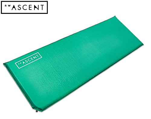 NW Ascent Sleeping Pad - Long and wide self-inflating air mattress for camping, hiking, backpacking or cot