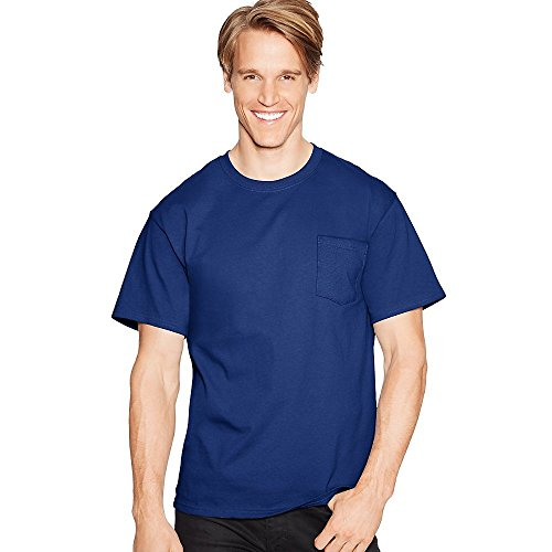 3-Pack 2XL XXL Navy Blue 5590 Hanes Tagless T-Shirt With Pocket