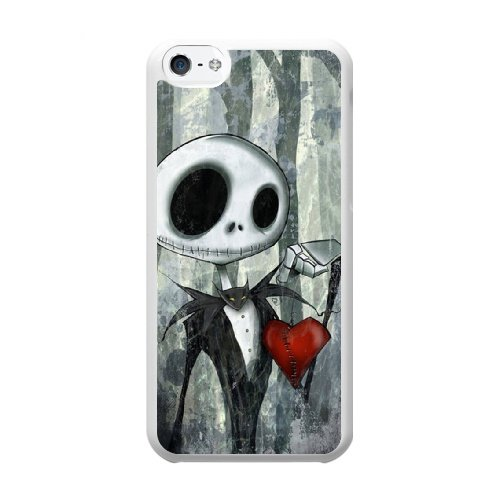 Coque,Coque iphone 5C Case Coque, The Nightmare Before Christmas Strange Noel Mr. Jack Cover For Coque iphone 5C Cell Phone Case Cover blanc