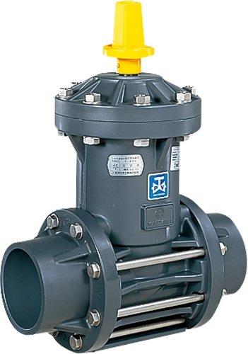 上水道関連製品>ビニベンゲート/バタフライ>ビニゲート GS 接着形 1型 (キャップ式/左開き) GS1-100 Mコード:15107 前澤化成工業 B079BQ7WBN
