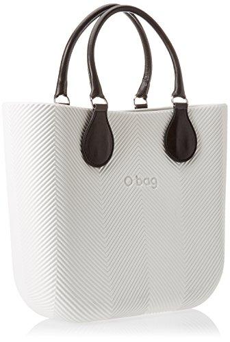 O bag B002_371, Borsa a Mano Donna, Multicolore (Latte), 11x31x40 cm (W x H x L)
