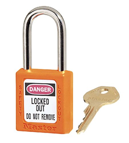 MP410O Plastic National Marker Padlock, Xenoy, Orange, 1 3/4
