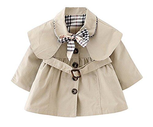 Dom&Lyn Baby Girls Fall Winter Outwear Bow-knot Jacket(Age 9-15M)