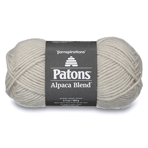 Patons Alpaca Blend Yarn - (5) Bulky Gauge - 3.5oz - Birch - Machine Washable for Crochet, Knitting & Crafting (Alpaca Chunky Needle)