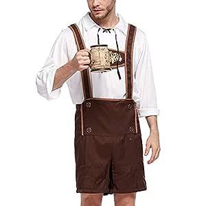 JiuRong Disfraz de Oktoberfest para Hombre Shorts de Tirantes para ...