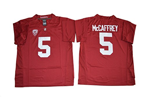 2016-2017 Christian McCaffrey 5 College Football Jersey Mens Red 3XL