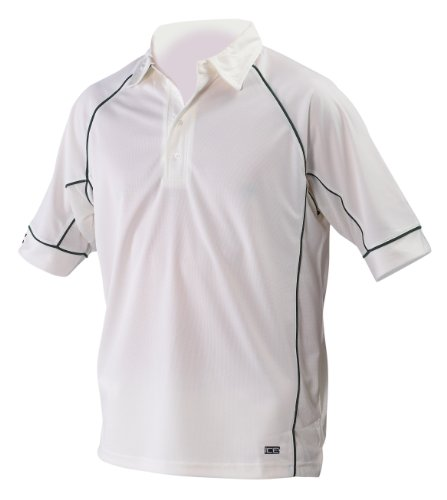 Ice Cricket Shirt Small Green Trim by Gray-Nicolls