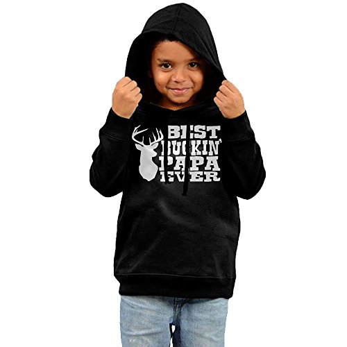 Best Buckin' Papa Ever Child Outer Jacket,Long Sleeve Coat For Boy