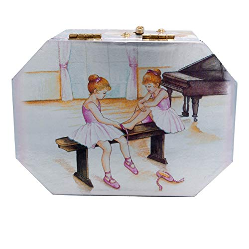 Material Drawer Box - Ballerina Jewelry Music Box with drawer-Wooden material