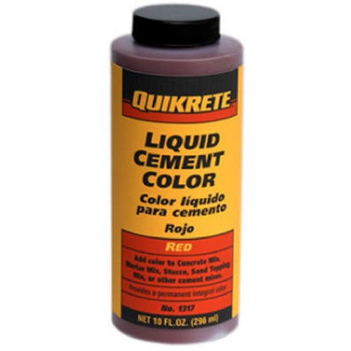 Quikrete 13173 Liquid Cement Color, Red, NET 10 FL. OZ.(296 mL)""