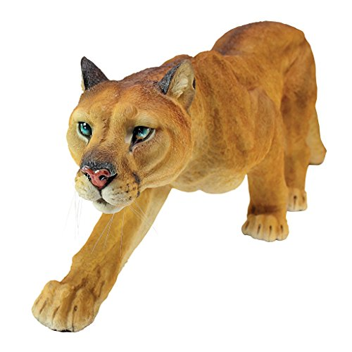 Design Toscano Prowling American Mountain Cougar Garden Statue, 22 Inch, Polyresin, Full Color