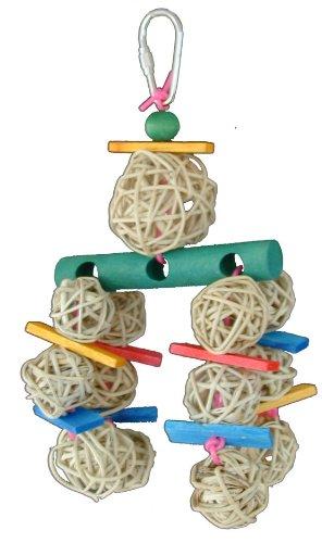 Super Bird Creations 8 by 3-1/2-Inch Hotsy Totsy Bird Toy, Medium, My Pet Supplies