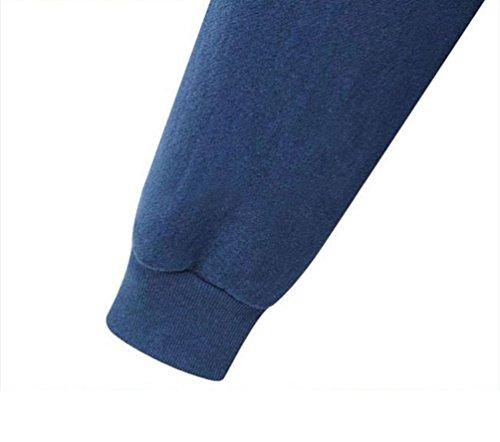Capuche Printemps Hoodie Lonuges À Veste Casual Sweat Manches Longue Pour Bleu Zip Automne Pull Femme Youjia wnPxOzSq