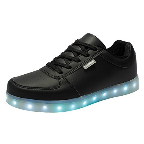 JUNGLEST Shoes Lovers Colors Flashing Boys 7 USB small LED for Charging towel Present Black Light vqEwFgg