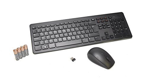 Refurbished R07JT Genuine OEM Dell Spanish KM632 Wireless Keyboard+Mouse+Receiver Factory Synched Set LAT-AMERICAN USB KIT Cordless Mouse/Keyboard RF Retail Box USB Spanish QWERTY w/Number Pad M1XF1 (Spanish Pad Mouse)