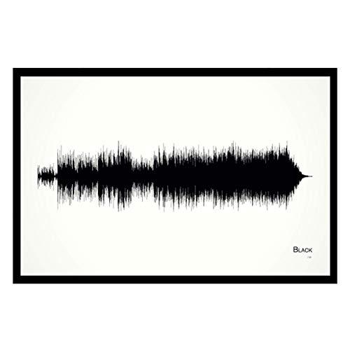 Black - 11x17 Framed Soundwave print ()