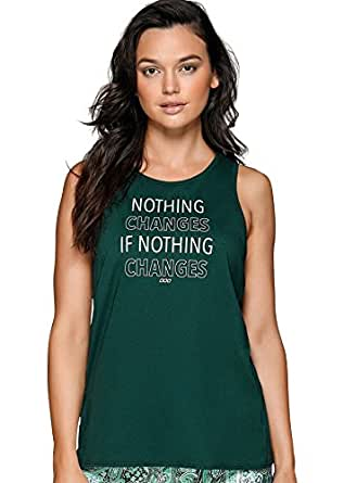 Lorna Jane Womens Cross Over Graphic Tank, Jungle Green, XX-Small
