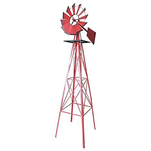 Valley #GTWM-08R 8 Foot Steel Windmill, RED COLOR