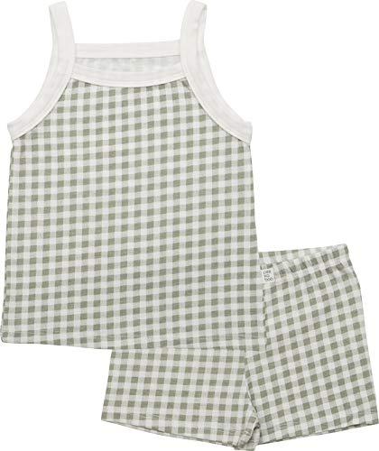 AVAUMA Flannel Sleeveless Newborn Baby Little Boy Girl Pajamas Summer Sets Pjs Kids Clothes (L/Mint)