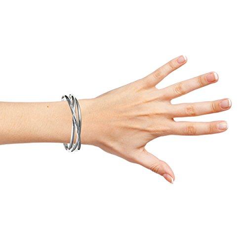 Grande femme en argent sterling Russe esclave 4mm Bracelet/Bracelet 21,6cm à 22,9cm lourds 47g