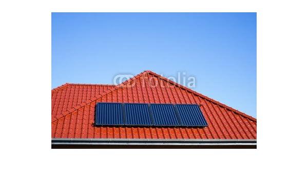 Paneles solares para agua caliente de techo de metal en colour rojo (79450994), lona, 120 x 80 cm: Amazon.es: Hogar