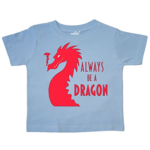 Dragon Kids Light T-shirt - inktastic Always Be a Dragon Toddler T-Shirt 2T Light Blue