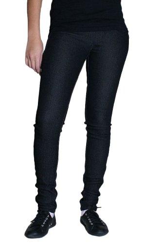 (Tripp NYC Juniors/Womens Skinny Denim Legging In Black, 0,)