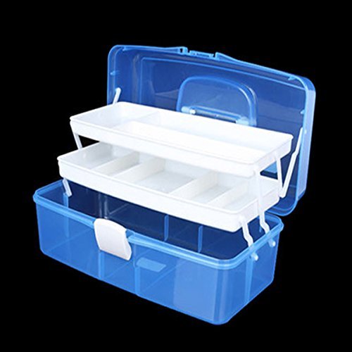 ... Tosnail 12-inch Plastic Art Supply Craft Storage Tool Box Container Case with Two Trays ... & Tosnail 12-inch Plastic Art Supply Craft Storage Tool Box Container ...