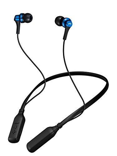 JVC HA-FX57BT-A Bluetooth 連続14時間再生ワイヤレスイヤホン/ネックバンド メタリックボディ ブルー