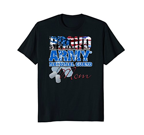 (Proud Army National Guard Mom USA Flag Shirt Mothers Day)