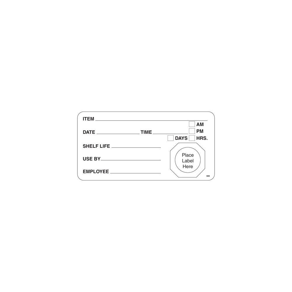 DayMark 110002 MoveMark 4 x 2 Use By/Shelf Life Label - 500 / RL