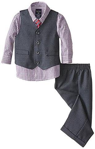 Nautica Baby Boys' Birdseye Vest Set, Navy, 24 Months
