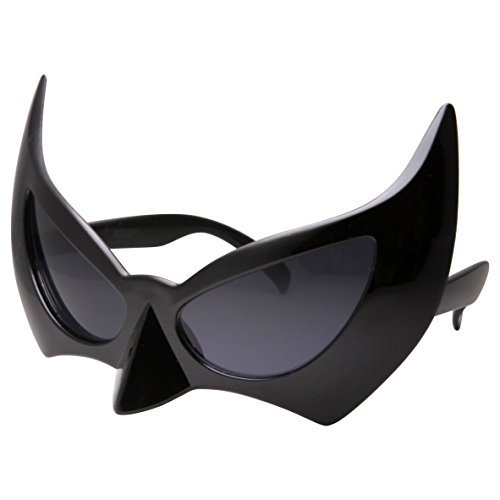 [Black Batman Batgirl Masquerade Mask Costume Sunglasses (Standard Adult Size)] (Kids Batman And Robin Costumes)