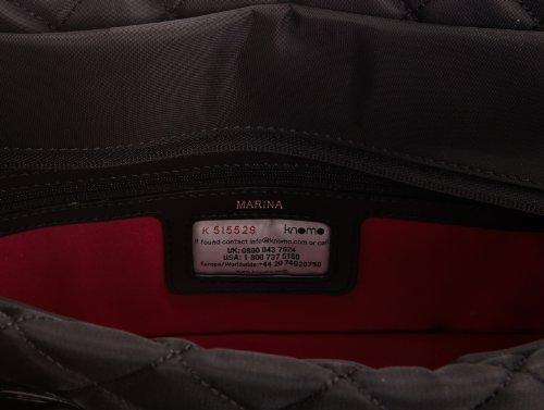 """Knomo Marina Sac bandoulière en nylon pour MacBook Pro/Ordinateur portable 15"""" Noir"""