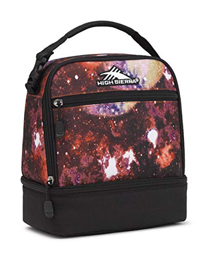 High Sierra Stacked Compartment Lunch Bag, Space Age/Black (Renewed)