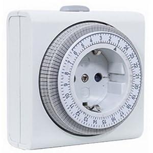 Rev ritter 25020109 - 00 reloj temporizador día- mecánicamente, blanco