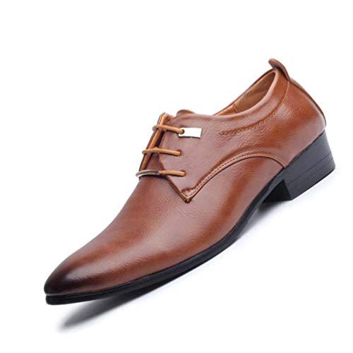 Uomini Formale Moda Pizzo Scarpe Pelle Up Abbigliamento in Oxford Uomini Marrone Uomini Scarpe Business Stile Scarpe Puntato E7rgwEx
