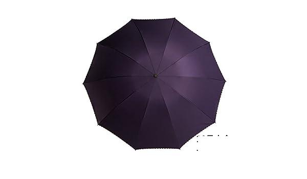 Sombrillas/plegar,paraguas gigante/reforzar,doble uso,color sš®lido,doblado de tres,sombrillas de sol/paraguas de dos personas-A: Amazon.es: Equipaje