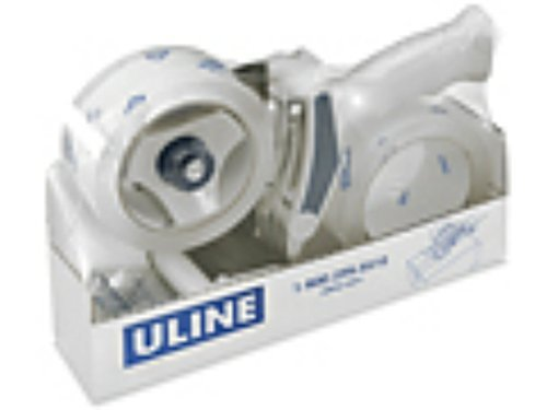 (Uline Industrial Plus Shipping Packaging Tape with Top Gun Dispenser, with Two 2 Inches X 55 Yd)