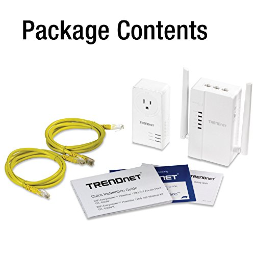 TRENDnet Wi-Fi Everywhere Powerline 1200 AV2 Dual-Band AC1200 Wireless Access Point Kit, Includes 1 x TPL-430AP and 1 x TPL-421E, White, TPL-430APK by TRENDnet (Image #6)
