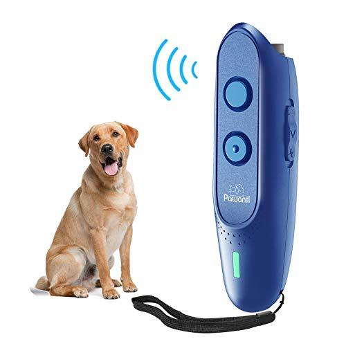 Pawanti Dog Bark Control Device, Ultrasonic Dog Bark Deterrent, 3 in 1 Anti Barking Dog Trainer, Rechargeable 16.5Ft…