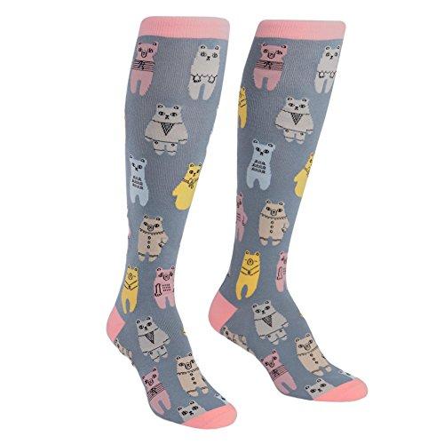 Bear Knee High Socks - Sock It To Me, Knee High Funky Socks: Animals (Bears)
