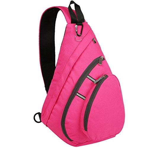 Price comparison product image Bekahizar Sling Backpack Bag Cross Body Chest Shoulder Pack for Men Women (Pink)